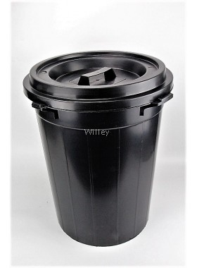 12GAL PAIL WITH COVER (BLACK)