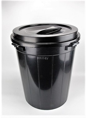 15GAL PAIL WITH COVER (BLACK)