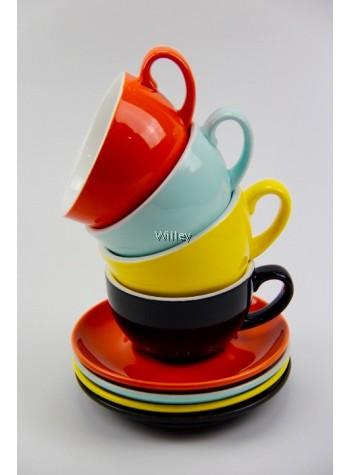 Cafe Porcelain Cup & Saucer 300ml