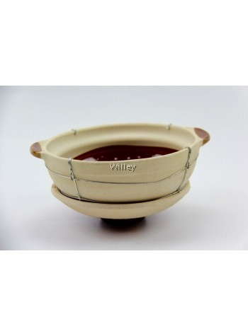 WIRE CHINA CLAYPOT 23CM