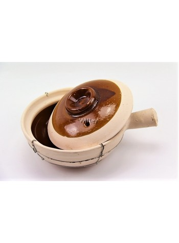 SINGLE HANDLE WIRE CHINA CLAYPOT 19CM