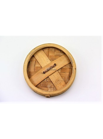 "6"" BAMBOO STEAMER BASKET & COVER"