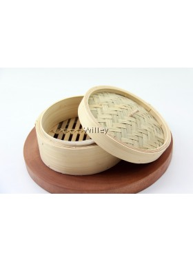 """6"""" Traditional Bamboo Steamer"""