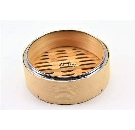 "7"" BAMBOO STEAMER BASKET / COVER"