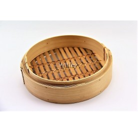 "8"" BAMBOO STEAMER BASKET / COVER"