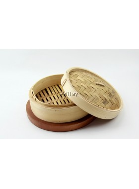 """10"""" Traditional Bamboo Steamer"""