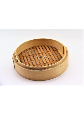 "18"" BAMBOO STEAMER BASKET & COVER"