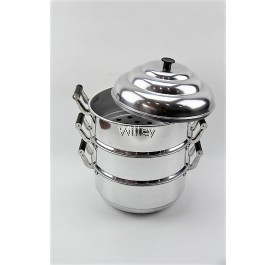 3 LAYER ALUMINIUM STEAMER POT 22-40CM