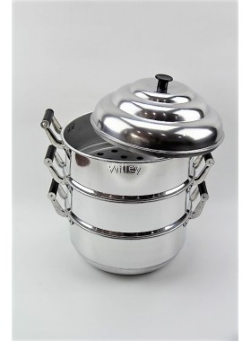 3 LAYER ALUMINIUM STEAMER POT 42-52CM / PENGUKUS TEBAL