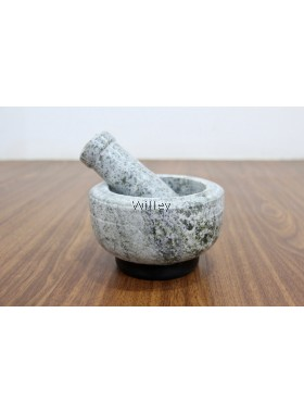 13cm / 14.5cm Stone Mortar & Pestle with Rubber Pad