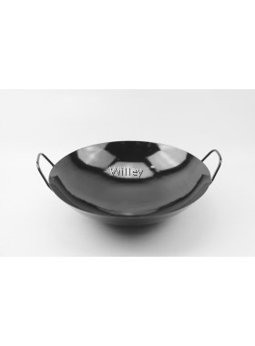 Black Enamel Chinese Cooking Wok 38cm / 40cm / 42cm